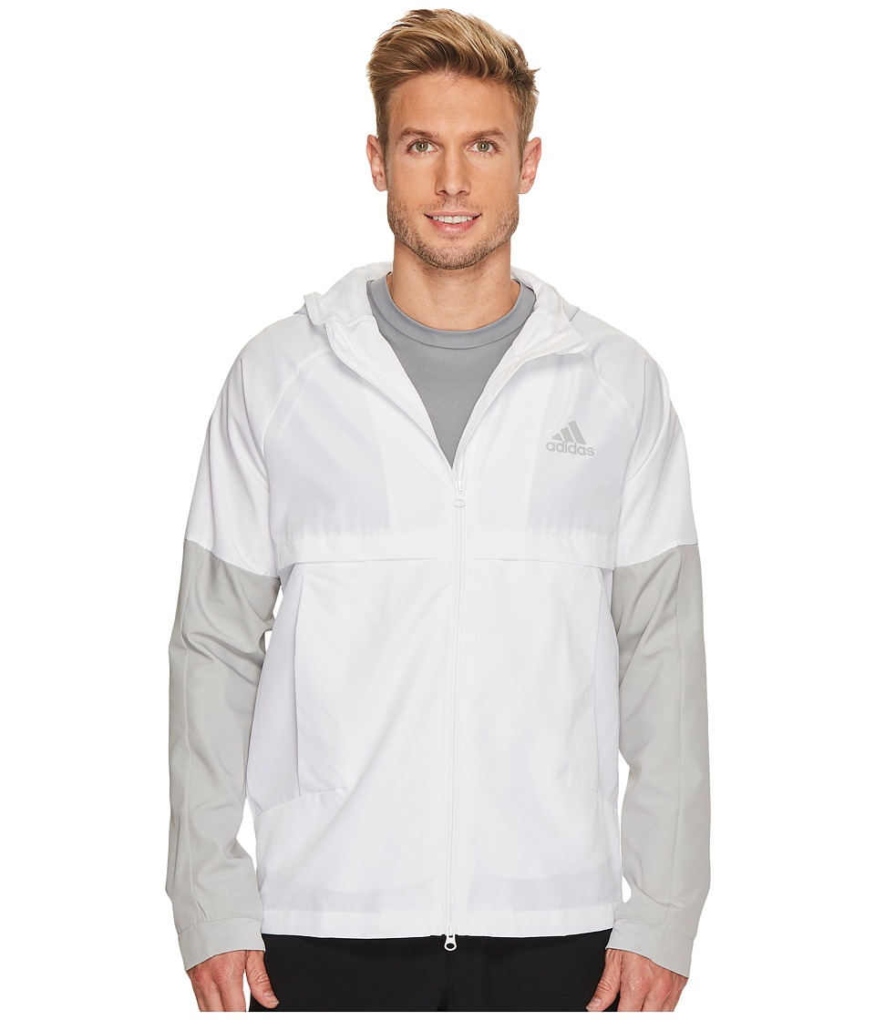 adidas - Sport ID Woven Jacket (White/Grey Two F17) Men's Coat