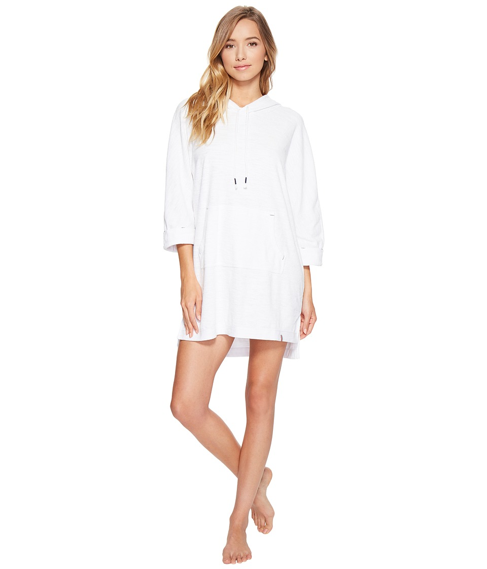 Jane & Bleecker - Terry Hooded Lounger 3531354 (Bright White) Women's Pajama