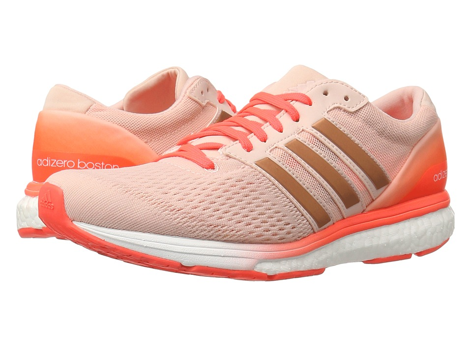 adidas - adiZero Boston 6 (Vapor Pink/Vapor Pink/Solar Red) Women's Shoes