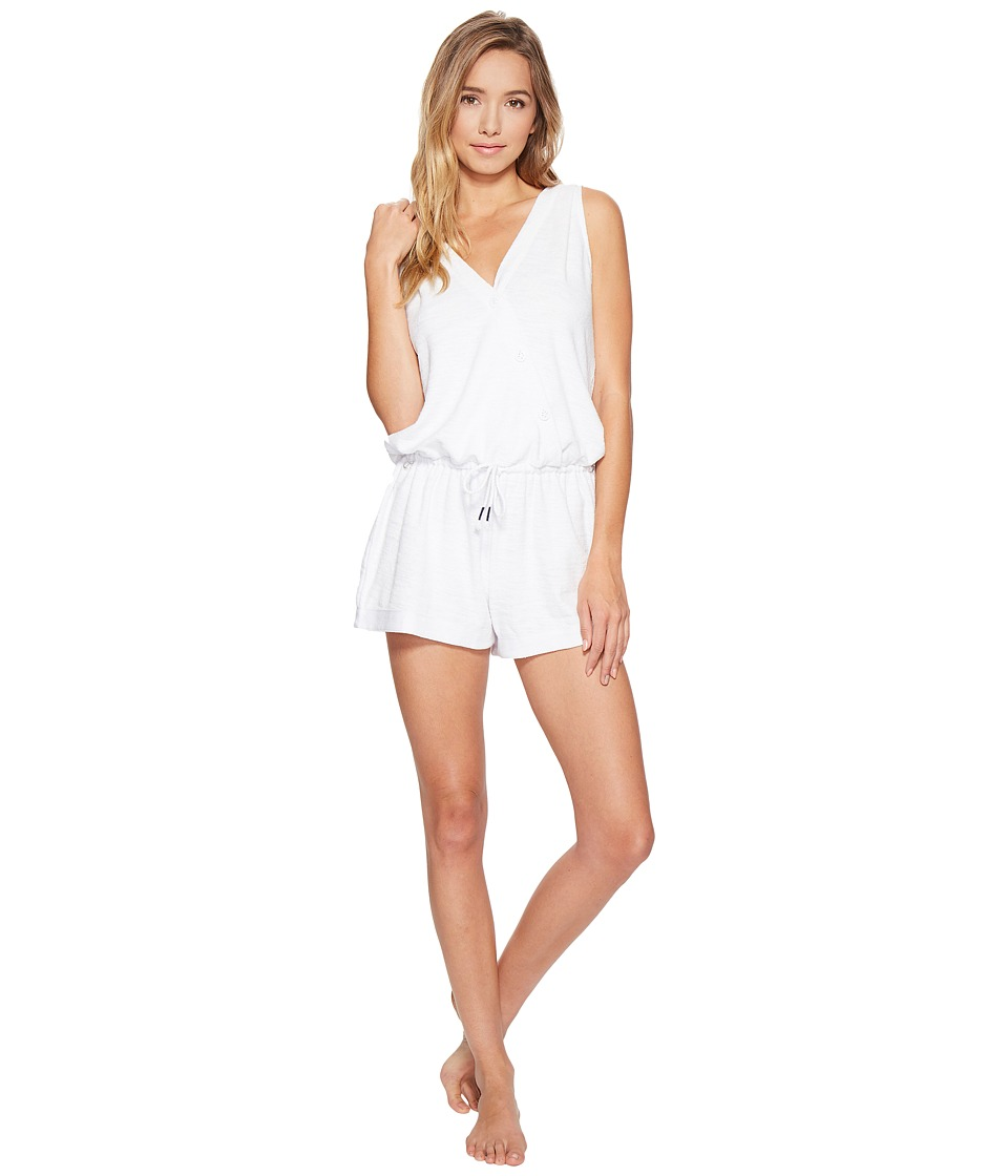 Jane & Bleecker - Terry Sleeveless Romper 3501354 (Bright White) Women's Jumpsuit & Rompers One Piece