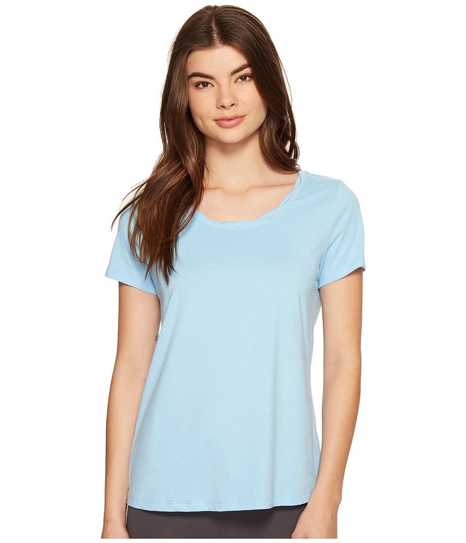 Jockey - Short Sleeve Top (Blue Lagoon) Women's Pajama