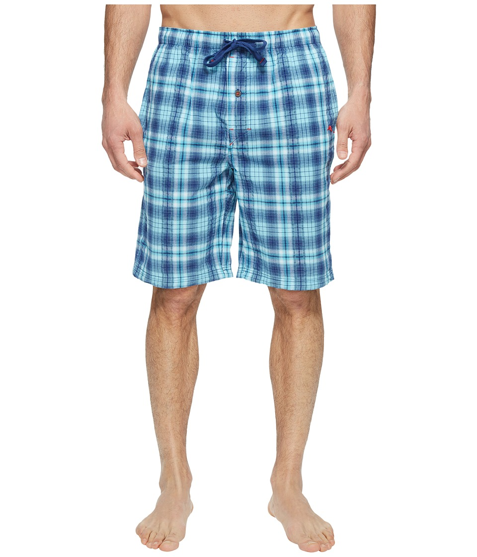 Tommy Bahama - Seersucker Woven Jam Shorts (Blue Plaid) Men's Pajama