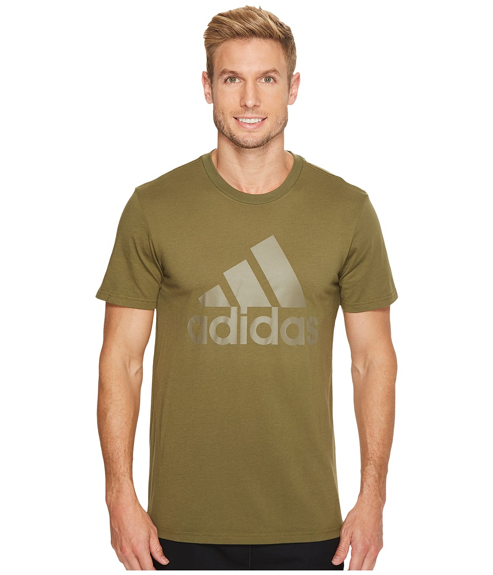 adidas - Badge of Sport Classic Tee 2 (Olive Cargo F16/Trace Cargo S17) Men's T Shirt