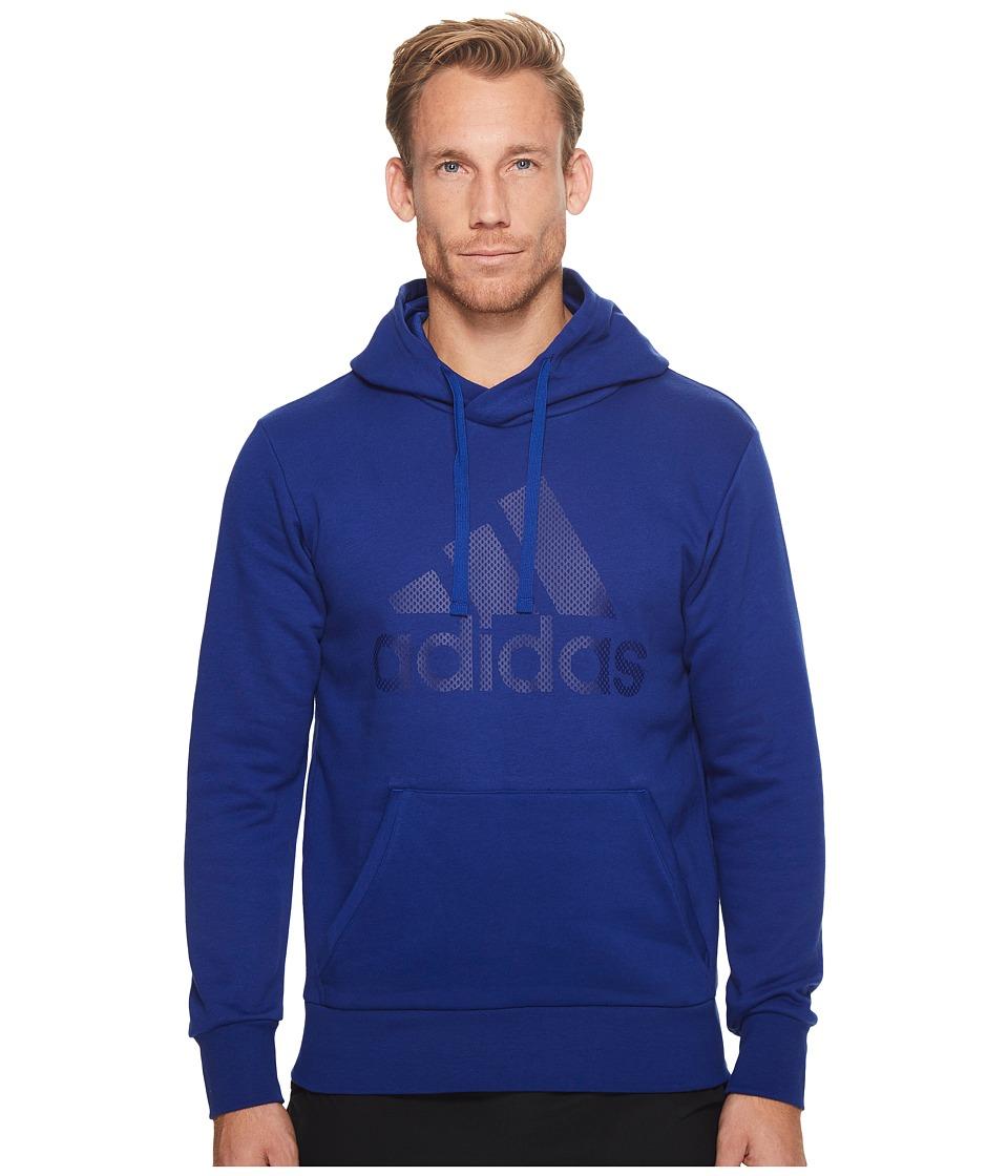 adidas - Essentials Cotton Pullover Logo Hoodie (Mystery Ink F17/Mystery Ink F17) Men's Sweatshirt