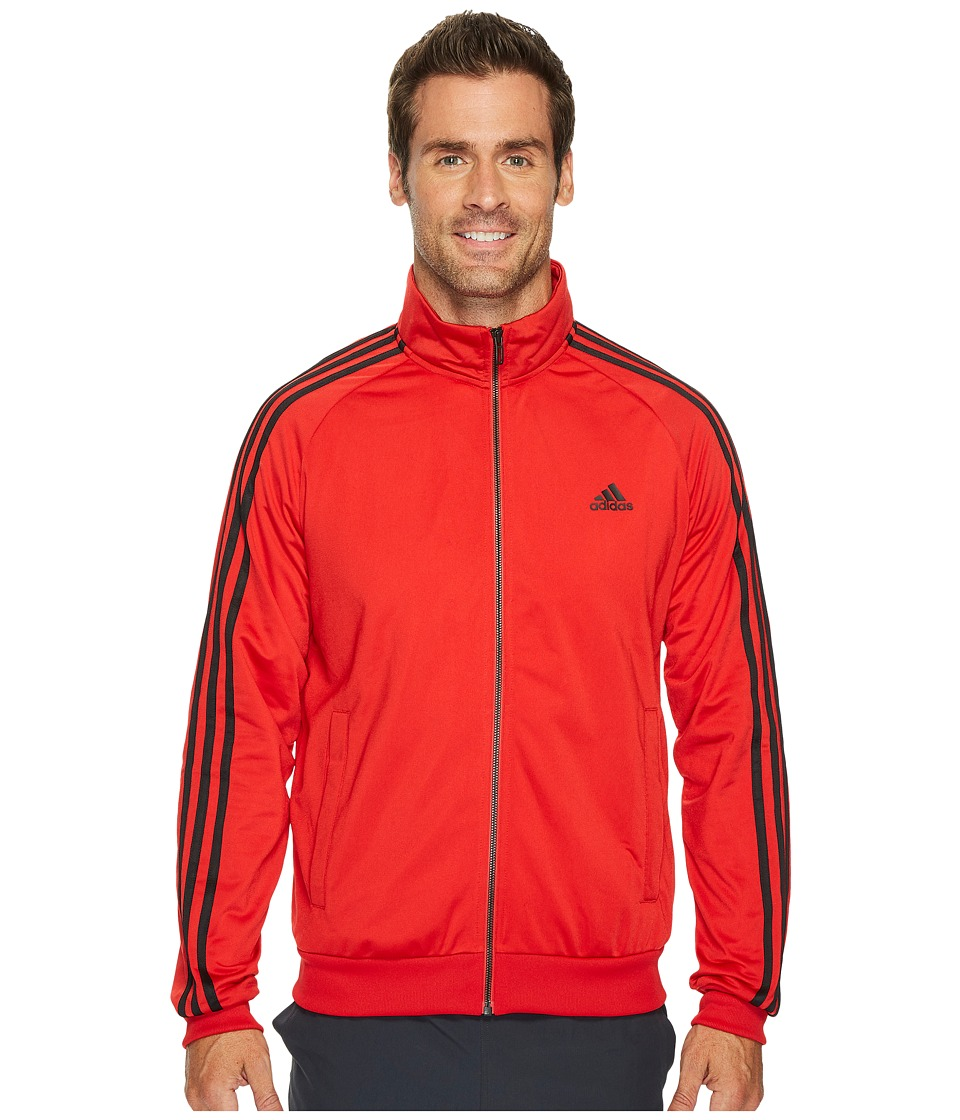 adidas - Essentials 3S Tricot Track Jacket (Scarlet/Black) Men's Coat