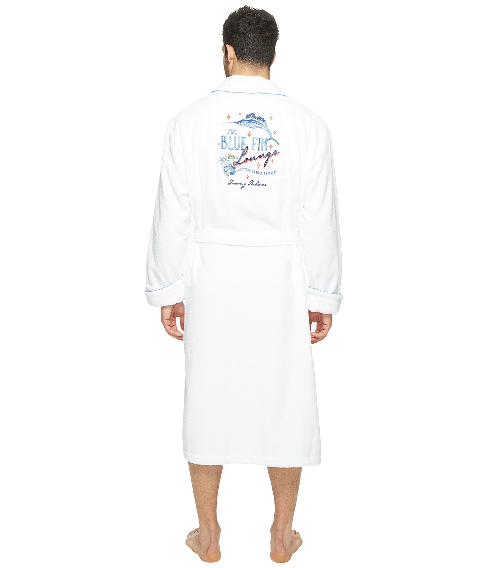 Tommy Bahama - Woven Loop Terry 50 Robe (White) Men's Robe