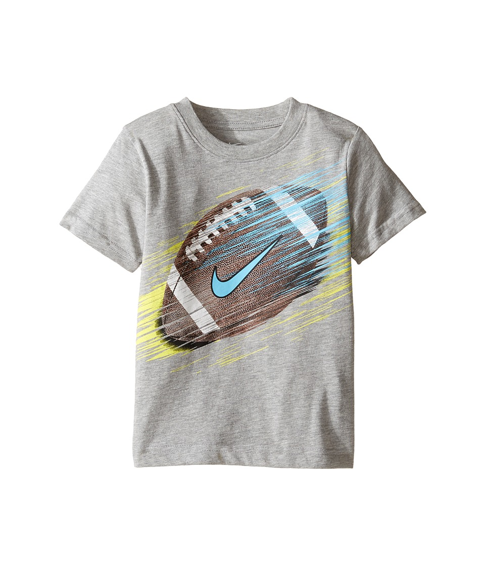 Nike Kids - Football Line Tee (Little Kids) (Dark Grey Heather) Boy's T Shirt