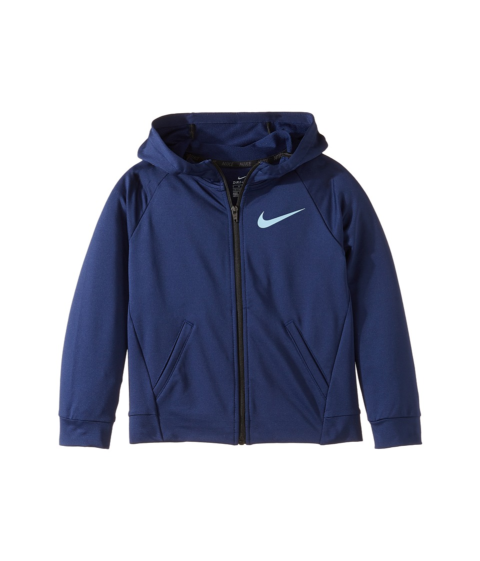 Nike Kids - Dri-FIT Training Full-Zip Hoodie (Little Kids) (Binary Blue) Boy's Sweatshirt