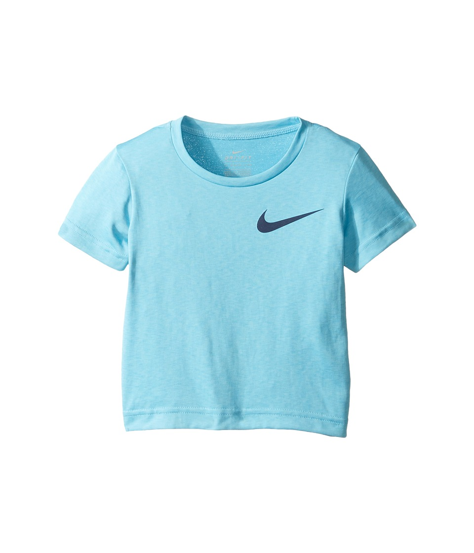 Nike Kids - Dri-FIT Short Sleeve Training Top (Toddler) (Still Blue Heather) Boy's Clothing