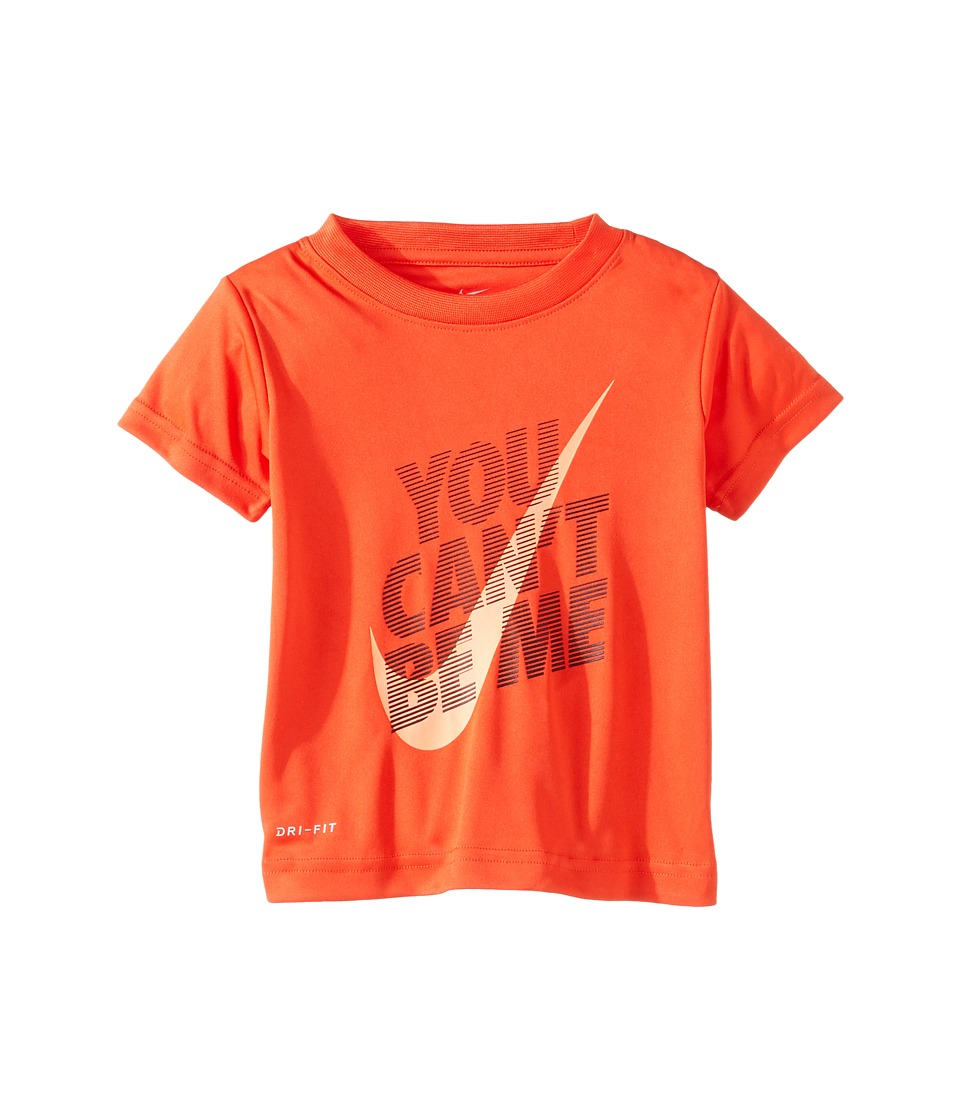 Nike Kids - You Can't Be Me Dri-Fit Tee (Toddler) (Max Orange) Boy's T Shirt