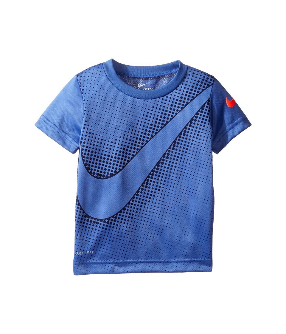 Nike Kids - Swoosh Reverberate Dri-Fit Tee (Toddler) (Comet Blue) Boy's T Shirt