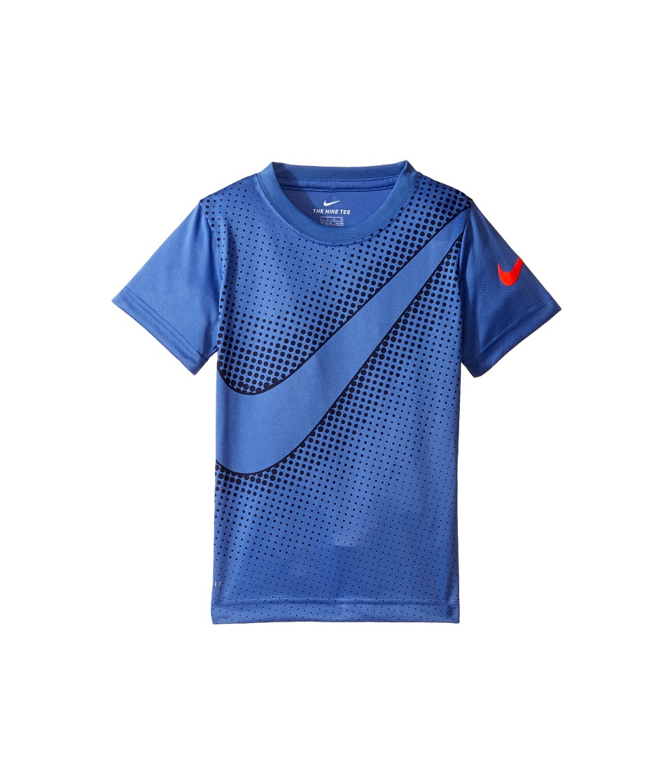 Nike Kids - Swoosh Reverberate Dri-Fit Tee (Little Kids) (Comet Blue) Boy's T Shirt