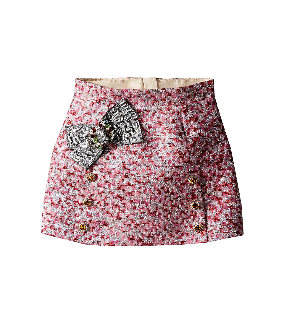 Dolce & Gabbana Kids - Pink Jacquard Skirt (Toddler/Little Kids) (Jacquard) Girl's Skirt