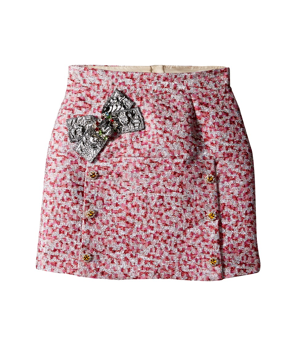 Dolce & Gabbana Kids - Pink Jacquard Skirt (Big Kids) (Jacquard) Girl's Skirt