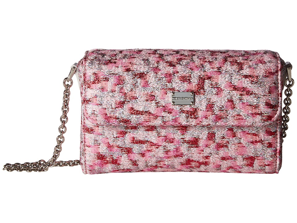 Dolce & Gabbana Kids - Pink Jacquard Bag (Pink Print) Shoulder Handbags
