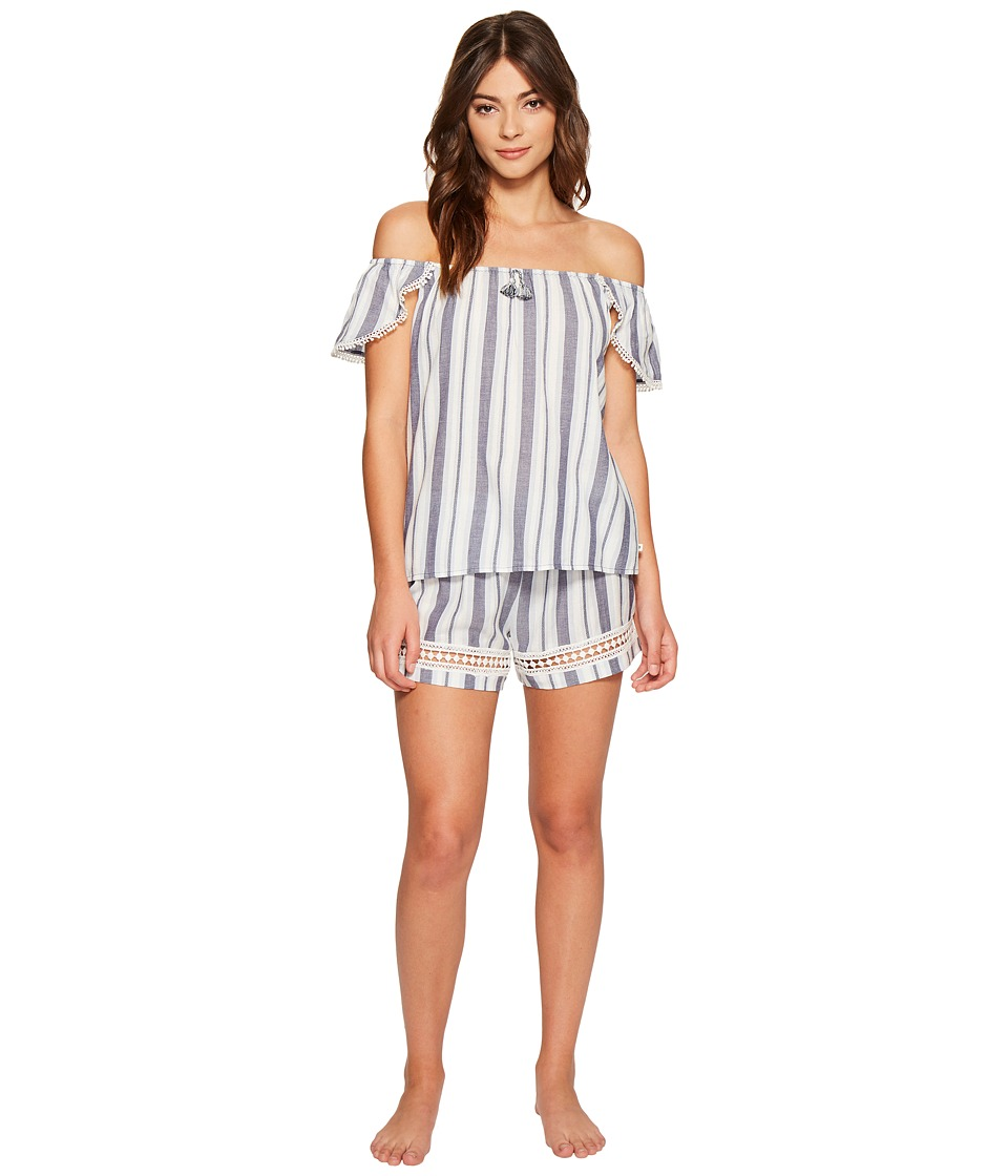 Lucky Brand - Woven Shorty Set (Patriot Yarn) Women's Pajama Sets