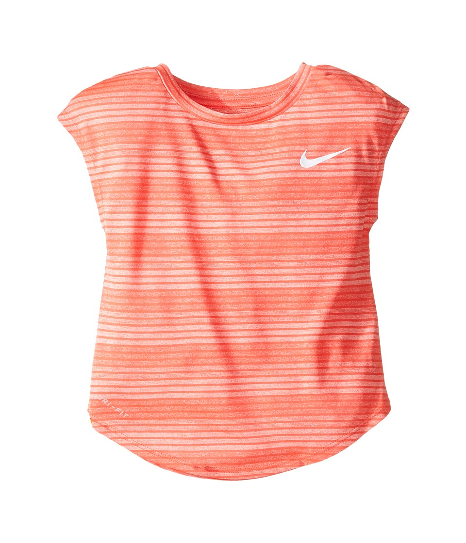 Nike Kids - Stripe Heather Gradient Dri-FIT Tee (Toddler) (Max Orange) Girl's T Shirt