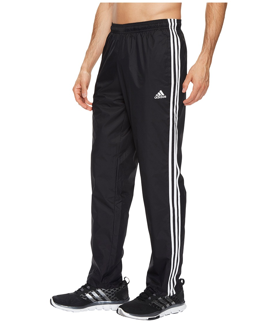adidas - Essentials 3S Wind Pants (Black/Black/White) Men's Casual Pants