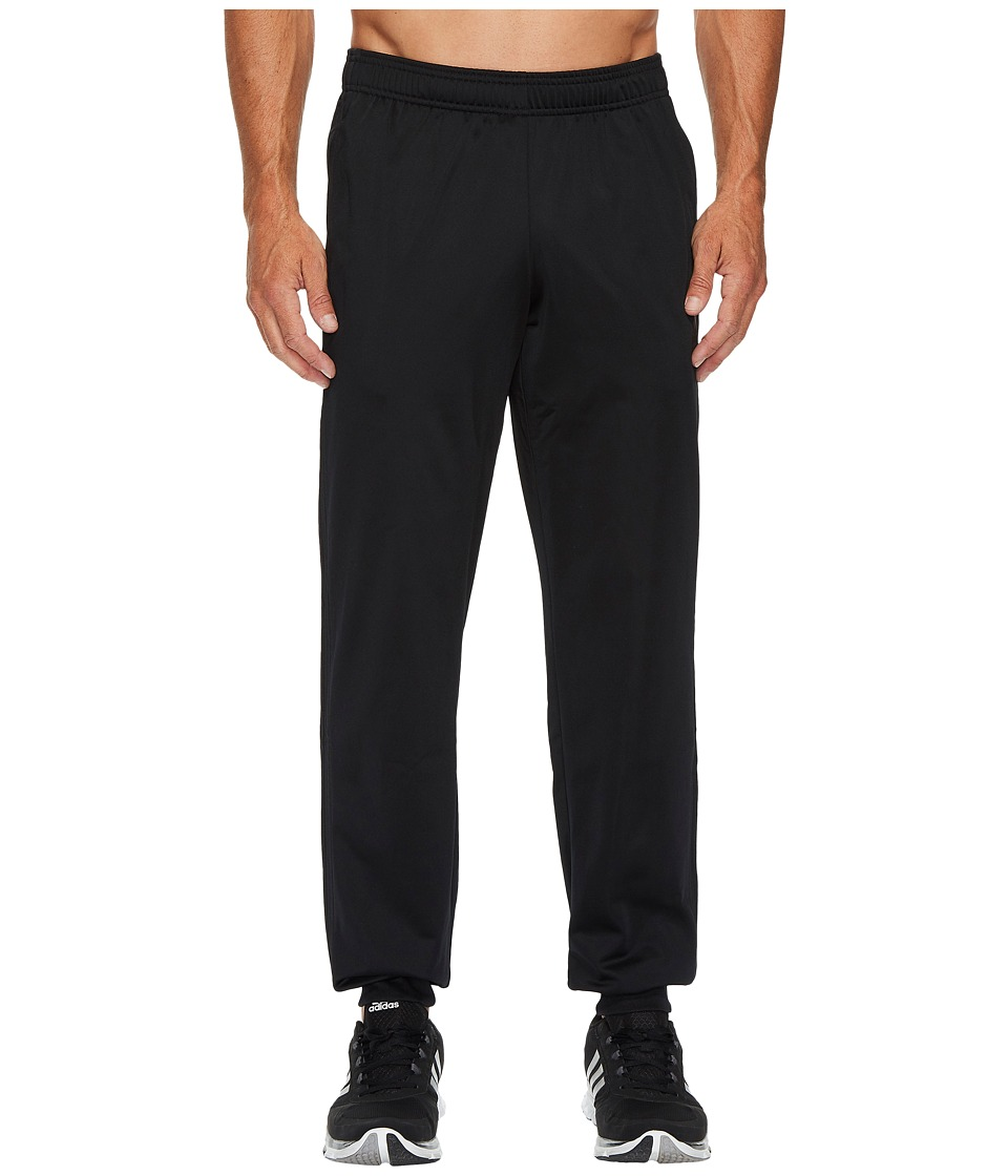 adidas - Essentials 3S Tapered Tricot Pants (Black/Black) Men's Casual Pants