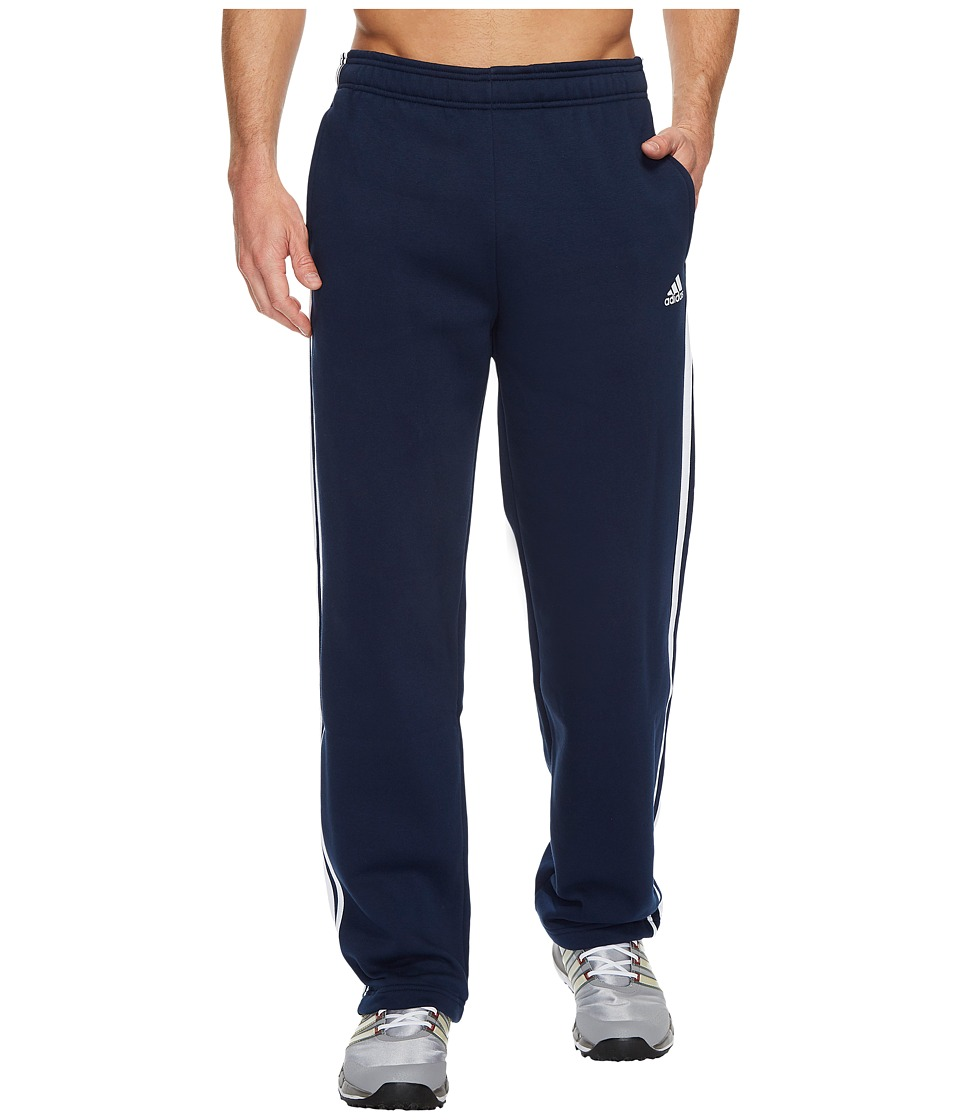 adidas - Essentials 3S Regular Fit Fleece Pants (Collegiate Navy/White) Men's Casual Pants