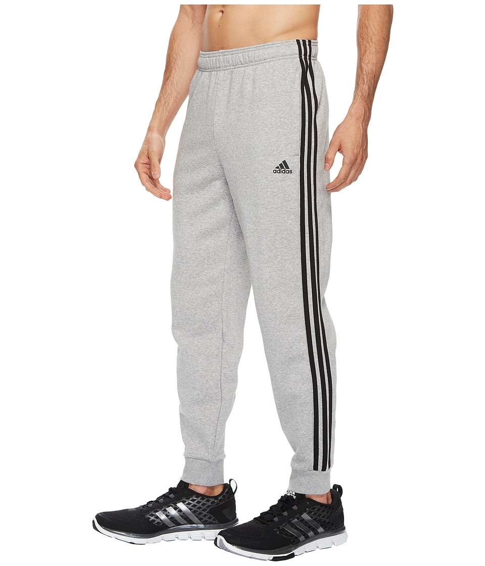 adidas - Essentials 3S Tapered Cuffed Pants (Medium Grey Heather/Black) Men's Casual Pants