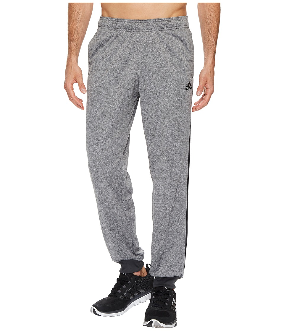 adidas - Essentials 3S Tapered Tricot Pants (Dark Grey Heather Solid Grey/Black) Men's Casual Pants