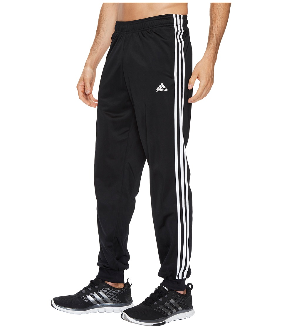 adidas - Essentials 3S Tapered Tricot Pants (Black/White) Men's Casual Pants