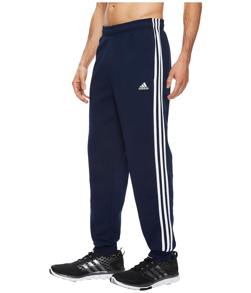 adidas - Essentials 3S Tapered Cuffed Pants (Collegiate Navy/White) Men's Casual Pants
