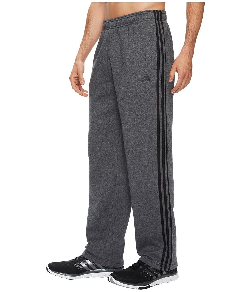 adidas - Essentials 3S Regular Fit Fleece Pants (Dark Grey Heather) Men's Casual Pants