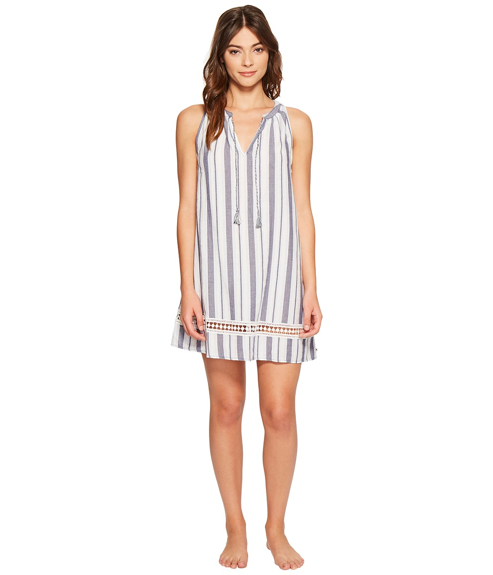 Lucky Brand - Woven Sleep Dress (Patriot Yarn) Women's Pajama