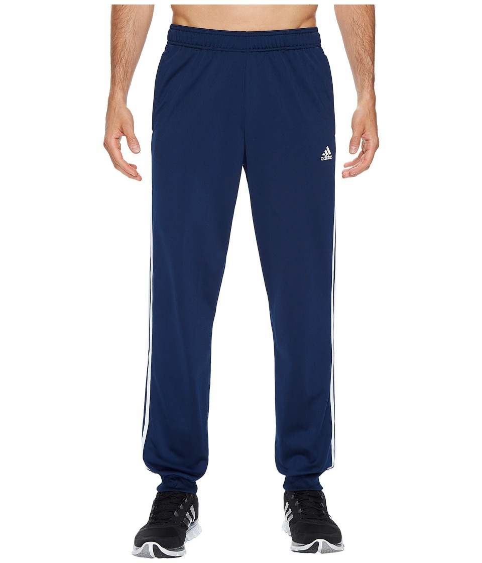 adidas - Essentials 3S Tapered Tricot Pants (Collegiate Navy/White) Men's Casual Pants