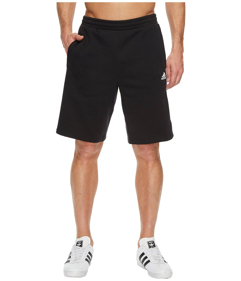 adidas - Essentials Cotton Shorts (Black/White) Men's Shorts
