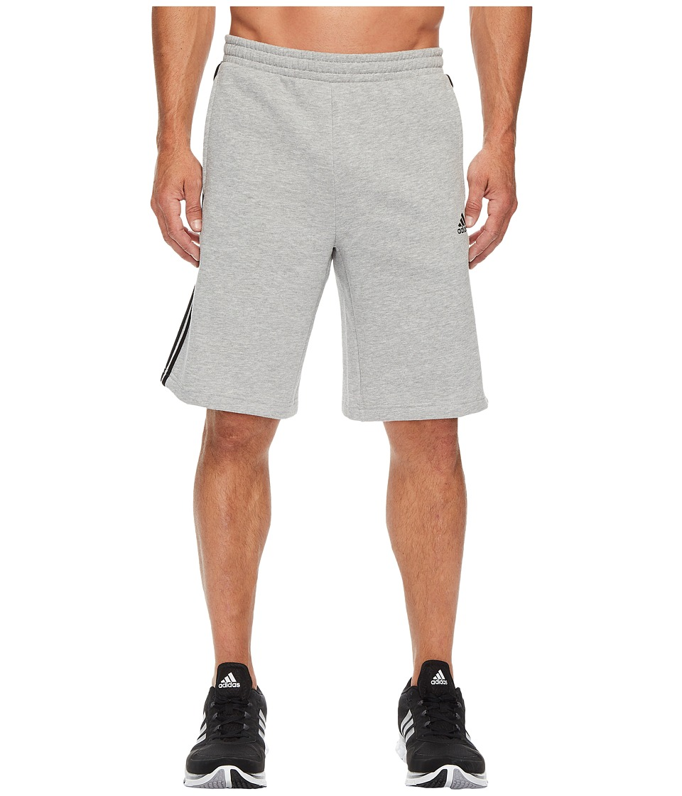 adidas - Essentials Cotton Shorts (Medium Grey Heather/Black) Men's Shorts