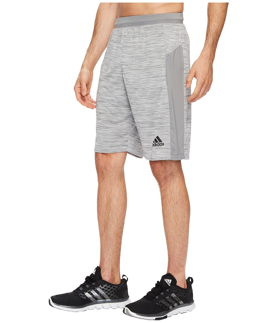 adidas - Speedbreaker Tech Heather Shorts (Grey Three F17) Men's Shorts