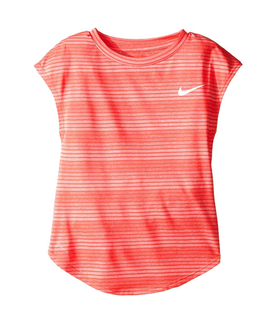 Nike Kids - Stripe Heather Gradient Dri-FIT Tee (Little Kids) (Max Orange) Girl's T Shirt