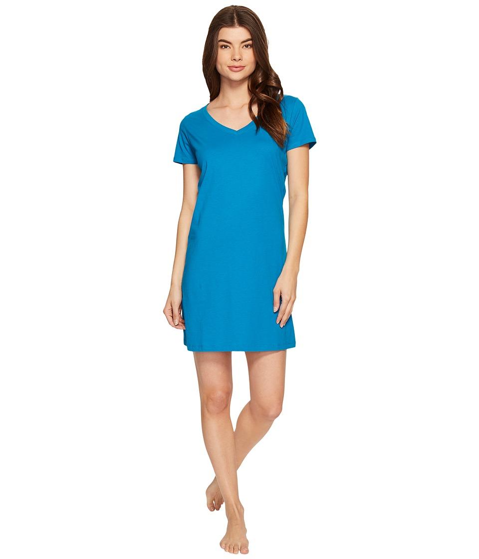 Jockey - Jockey Cotton Essentials Sleepshirt (Teal) Women's Pajama