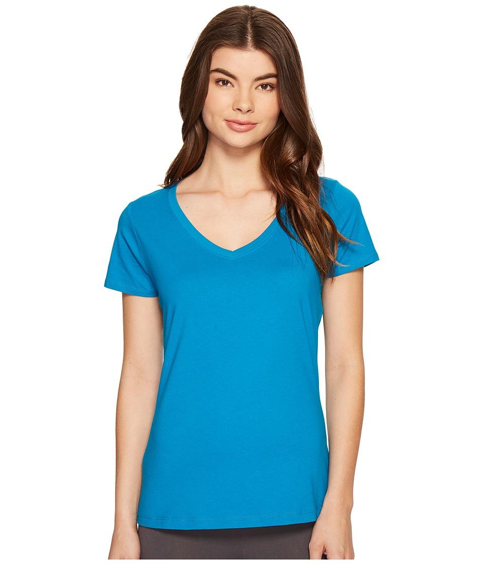 Jockey - Jockey Cotton Essentials V-Neck Tee (Teal) Women's Pajama