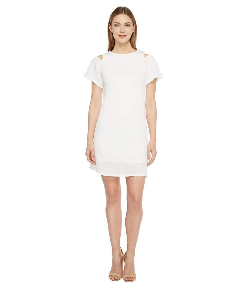 Brigitte Bailey - Marni Cold Shoulder Ruffle Dress (Ivory) Women's Dress