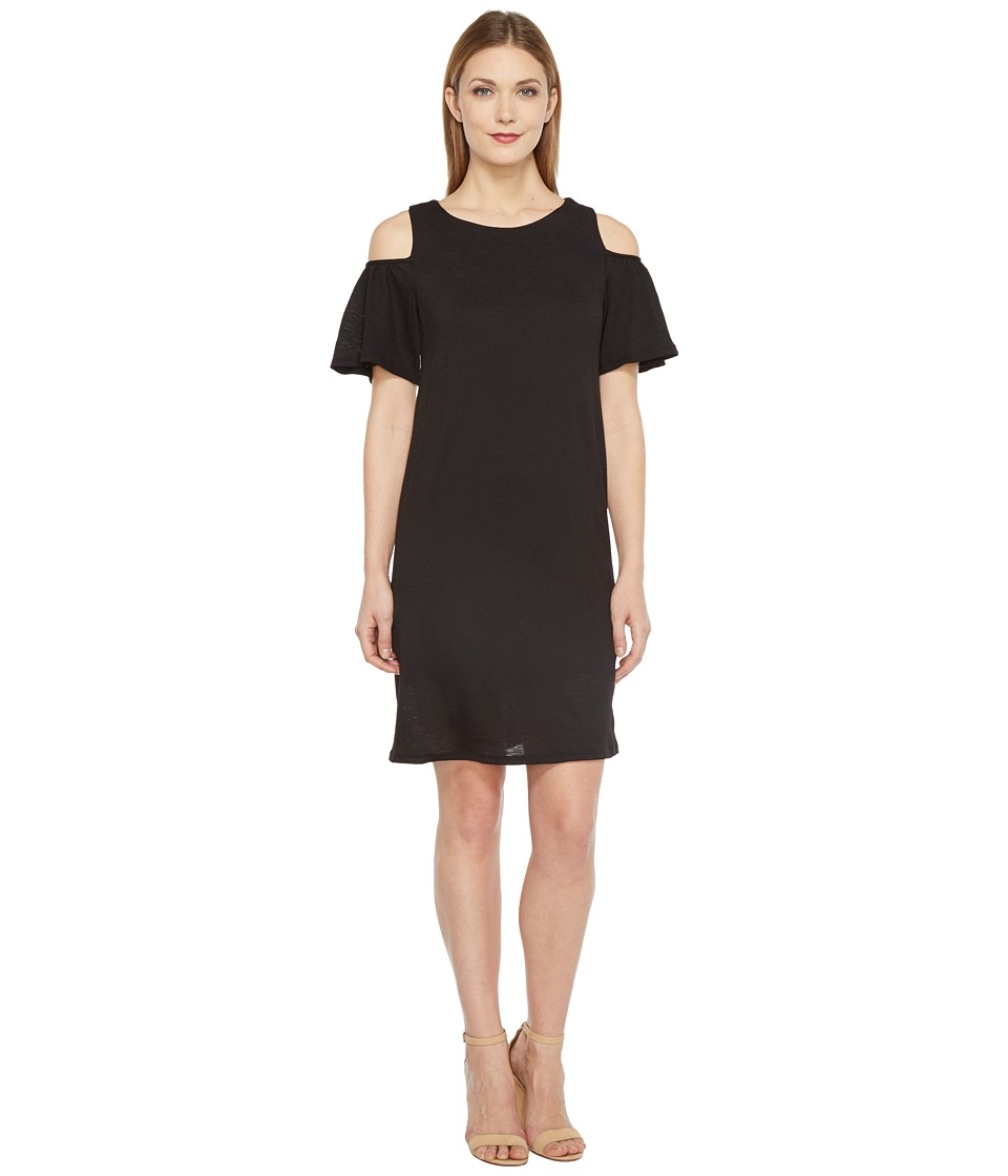 Brigitte Bailey - Marni Cold Shoulder Ruffle Dress (Black) Women's Dress