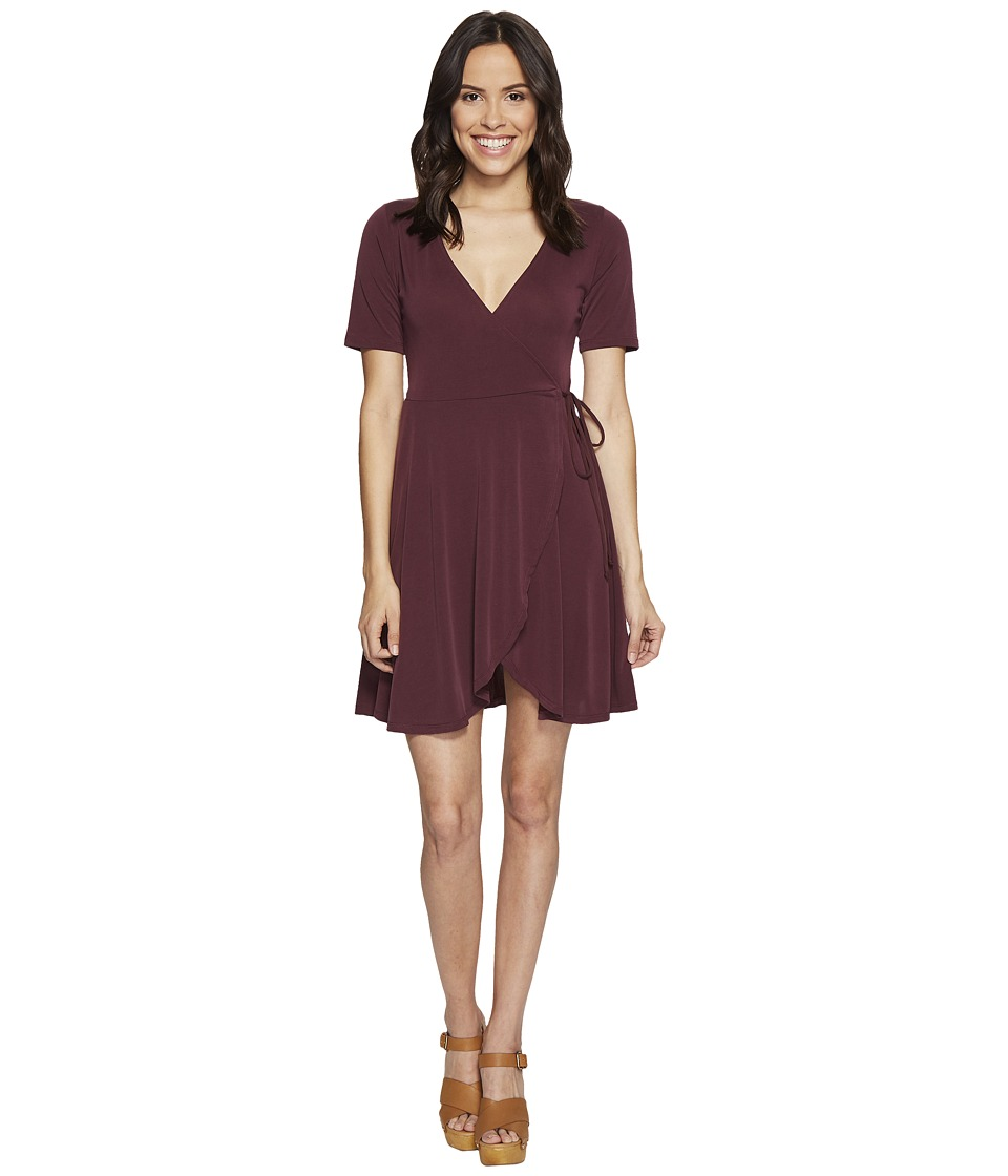 Culture Phit - Aerin Short Sleeve Wrap Dress (Marsala) Women's Dress