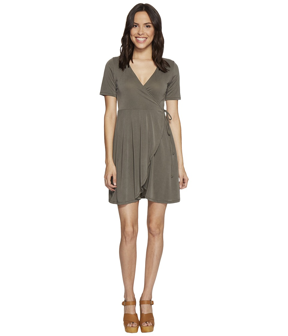 Culture Phit - Aerin Short Sleeve Wrap Dress (Olive) Women's Dress