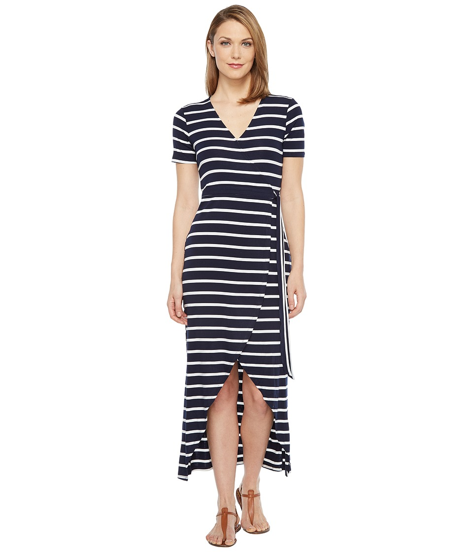 Culture Phit - Makani Maxi Wrap Dress (Navy/White) Women's Dress