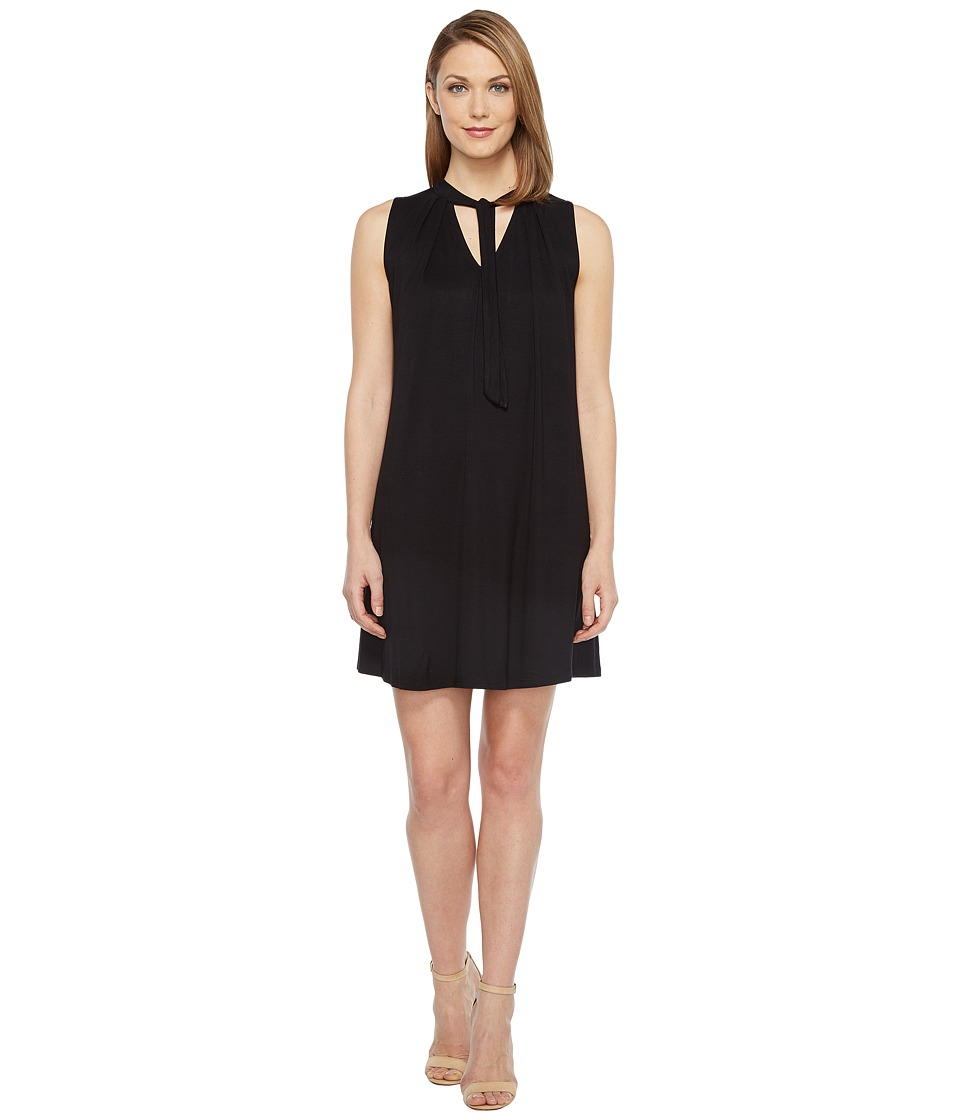 Culture Phit June Sleeveless Dress with Neck Tie (Black) Women