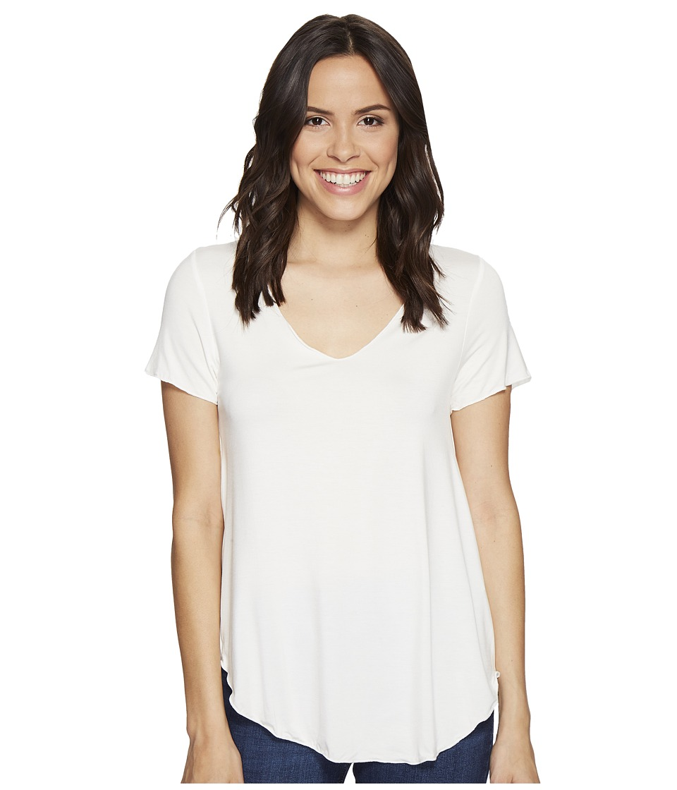Culture Phit - Flynn V-Neck Short Sleeve Top (White) Women's Clothing