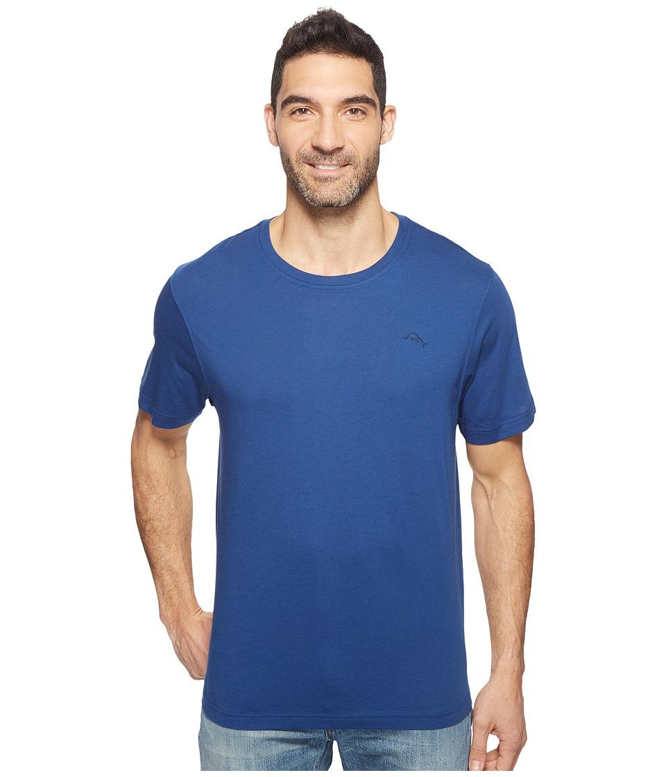 Tommy Bahama - Basic Short Sleeve T-Shirt (Bering Blue) Men's Pajama