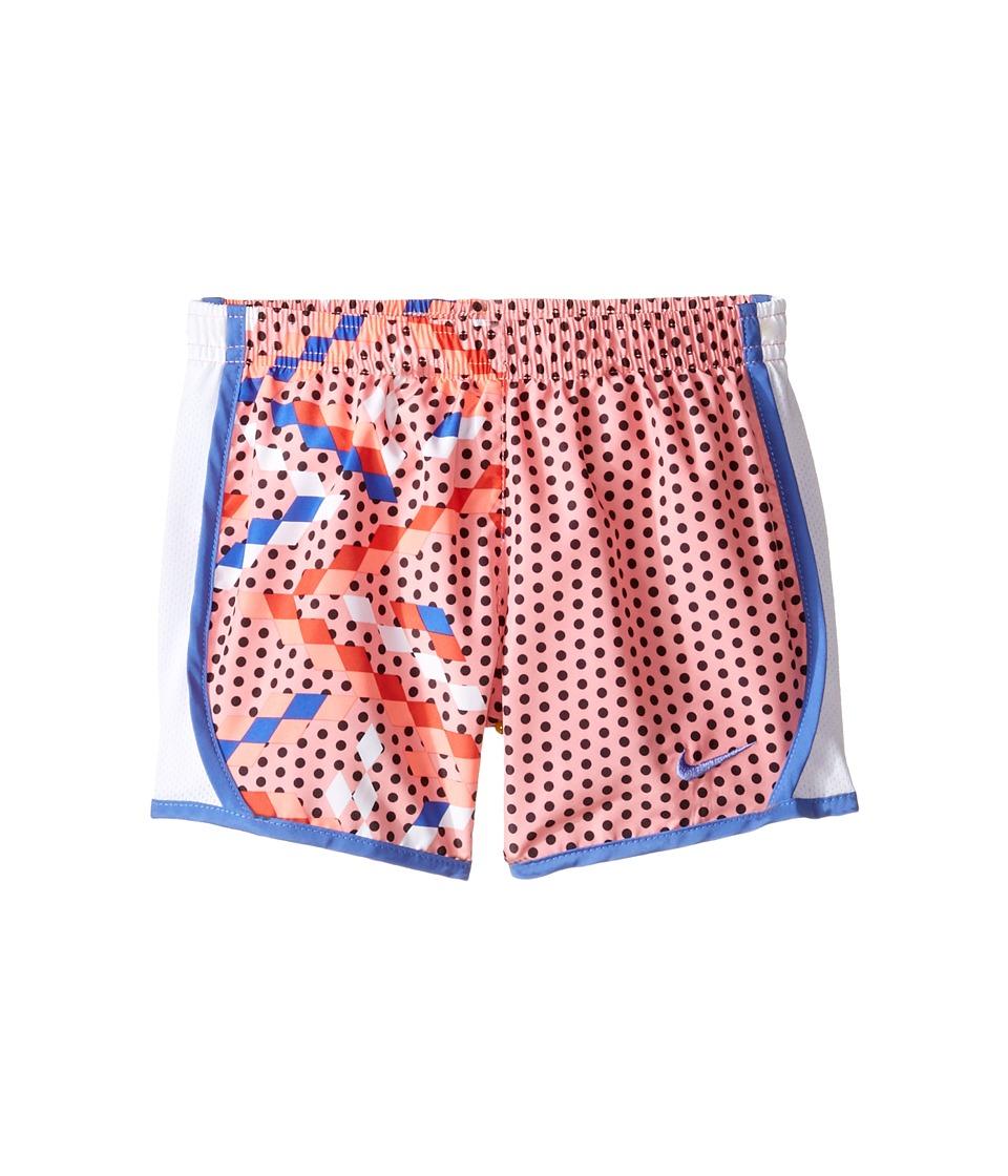 Nike Kids - Tempo Dry Shorts All Over Print (Little Kids) (Bright Melon) Girl's Shorts