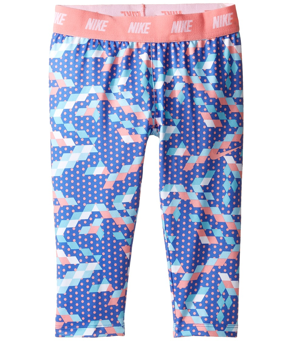 Nike Kids - Dri-FIT Sport Essentials Print Capri (Little Kids) (Comet Blue) Girl's Capri