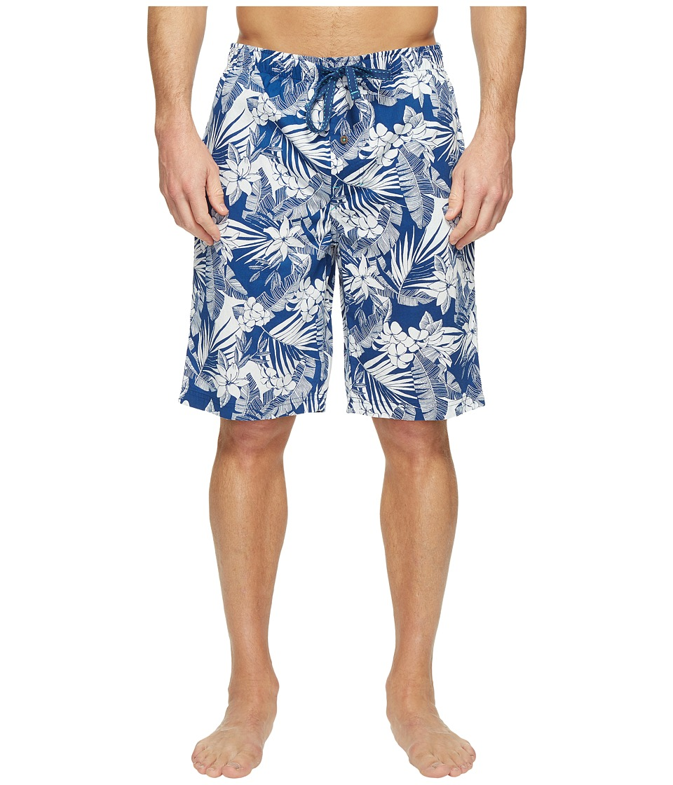 Tommy Bahama - Woven Jam Shorts (All Over Floral Leaves Bering Blue) Men's Pajama