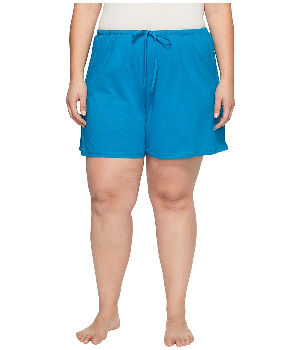 Jockey - Jockey Cotton Essentials Plus Size Boxer (Teal) Women's Pajama