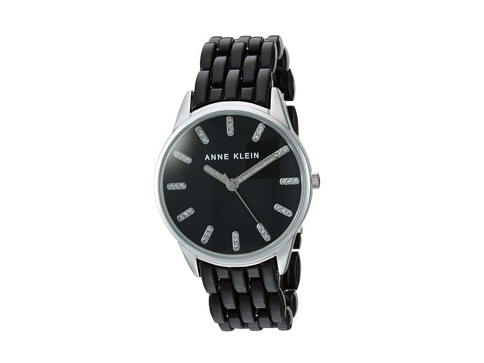 Anne Klein - AK-2617BKSV (Black/Silver-Tone) Watches